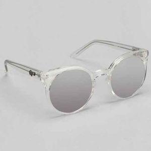 Quay Kosha Clear Sunglasses Mirrored Lenses